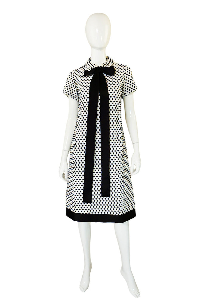 1960s Dotted Geoffrey Beene Shift Dress