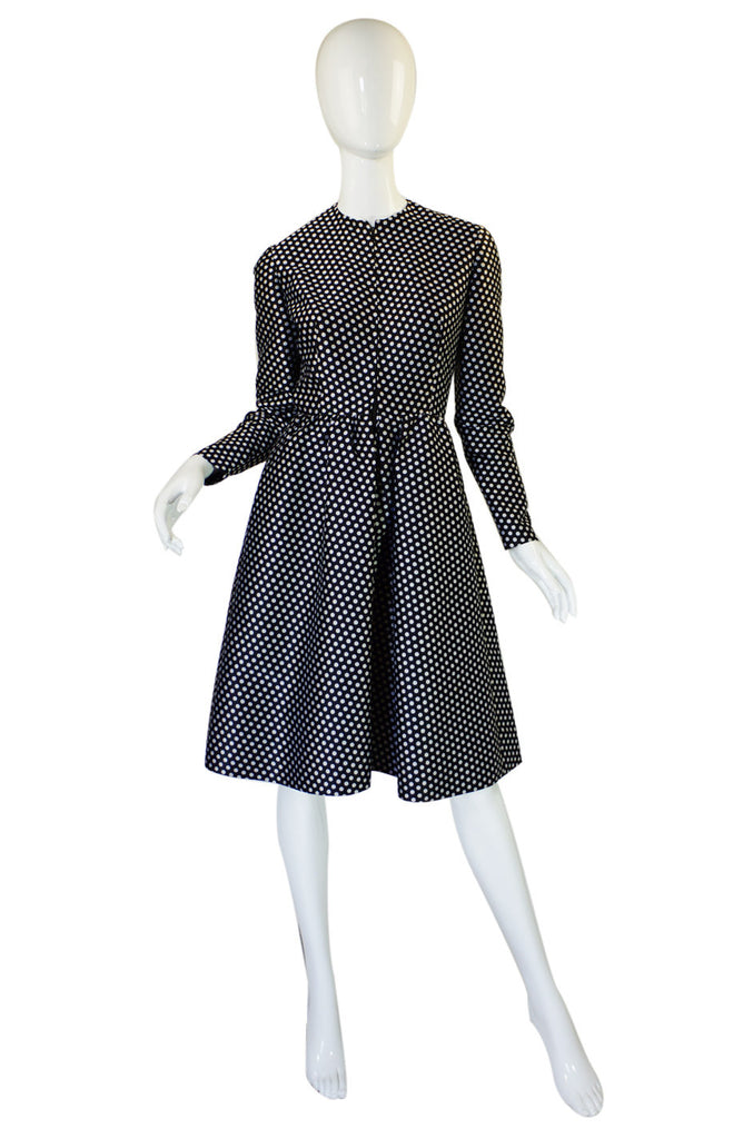 1970s Dotted Geoffrey Beene Dress