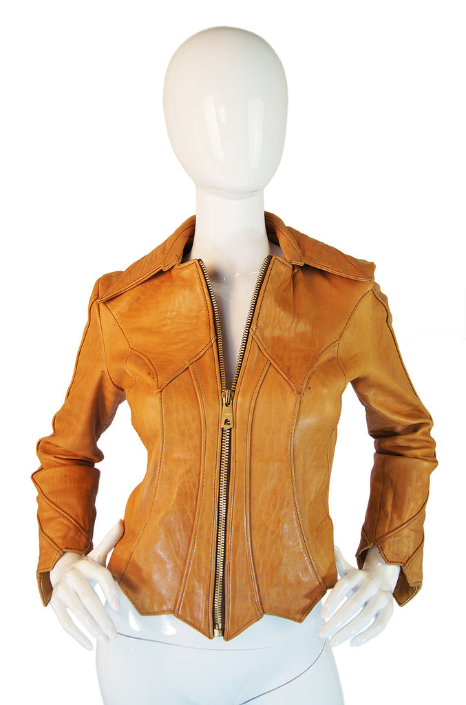 1960s East West Sculpted Leather Lacket