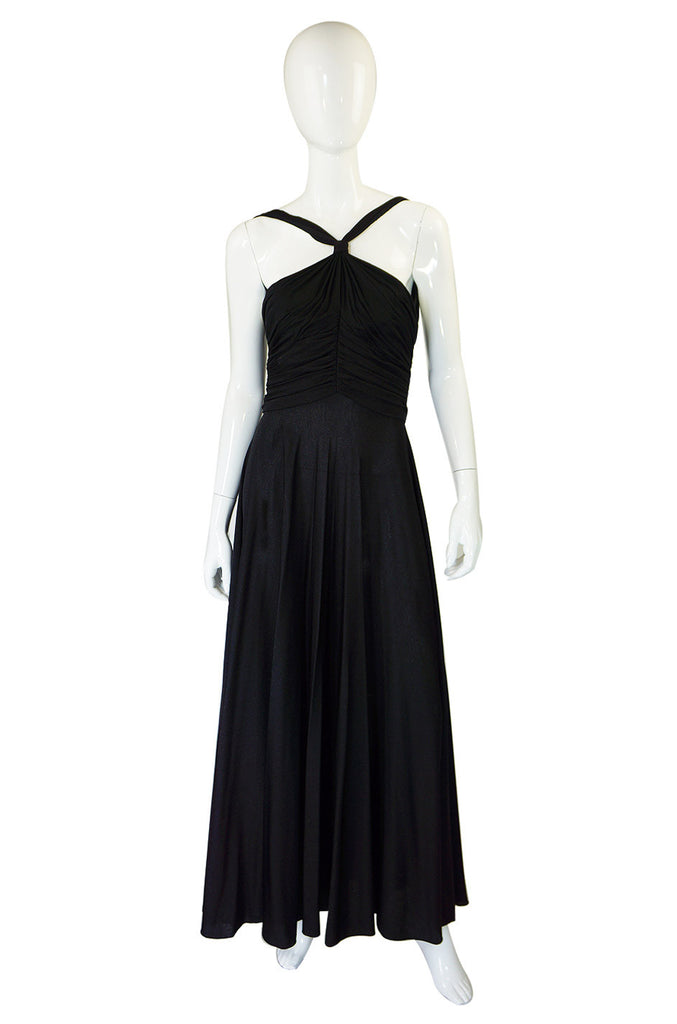 1960s Jersey Emma Domb Halter Dress
