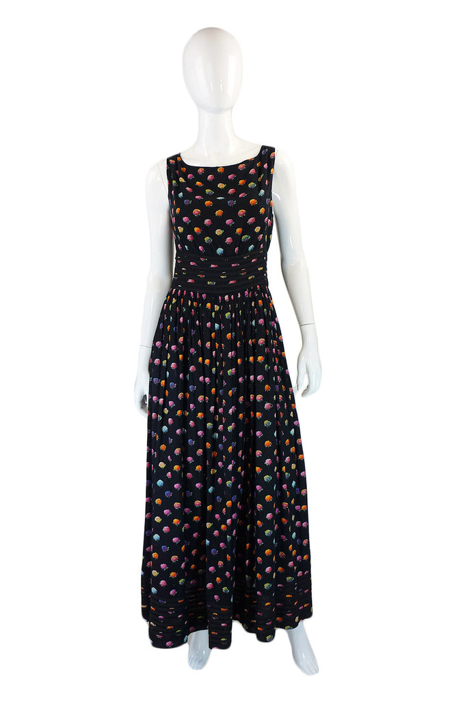 1960s Floral Donald Brooks Patio Gown