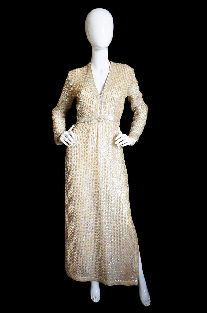 1960s Fred Perlberg Sequin Silk Dress