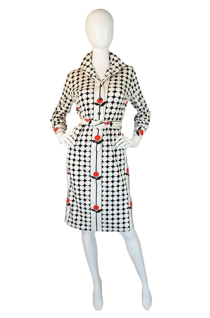 1960s Givenchy Couture Dots & Flowers