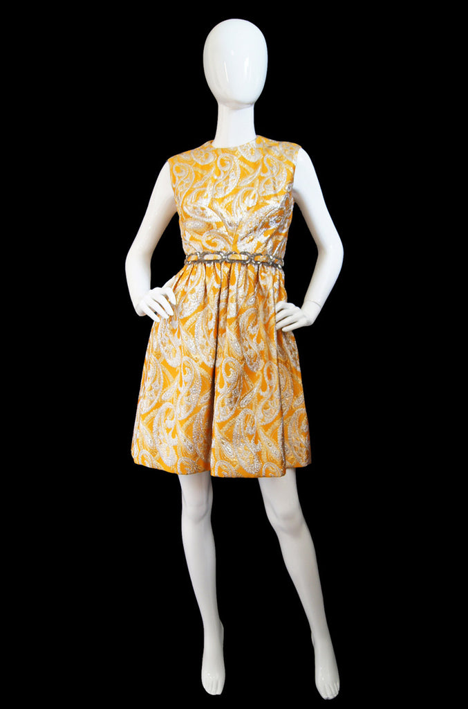 1960s Oscar de La Renta Attr. Mini Dress