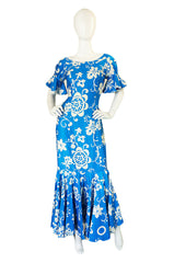 1960s Royal Hawaiian Printed maxi Dress