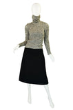 Rare 1960s Jean Patou Knit & Wool Dress