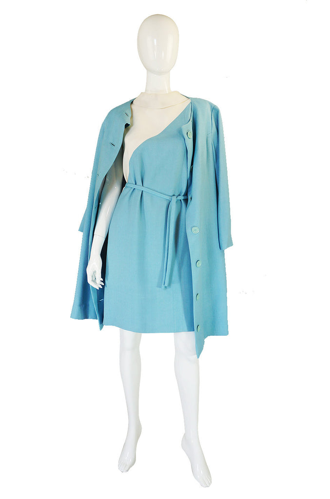 1960s Jeanne Lanvin Dress & Coat Set