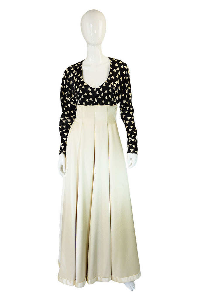 1960s Couture Maggy Reeves Silk Gown