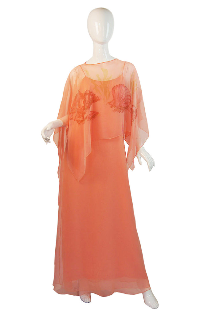 1960s Malcolm Starr Gown and Capelet