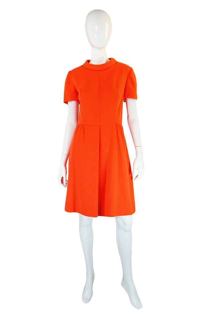1960s Nat Kaplan Orange Mod Dress