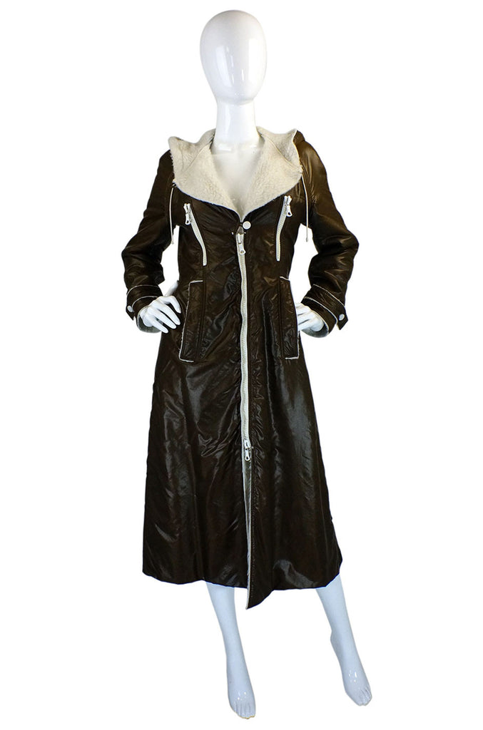1960s Nylon Courreges Hooded Coat