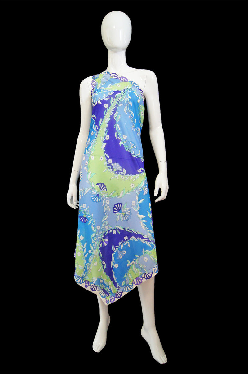 1960s One Shoulder EPFR Pucci Dress