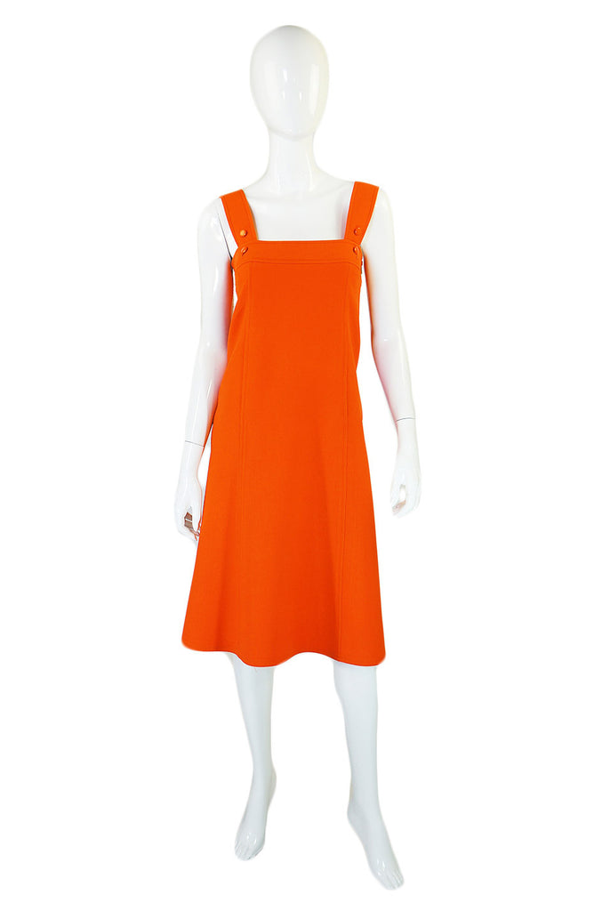 1960s Orange Courreges A-Line Dress