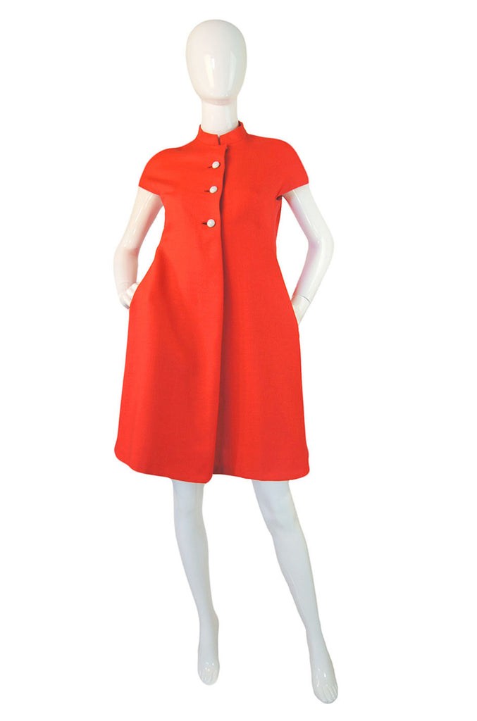1960s Mod Orange Geoffrey Beene Dress