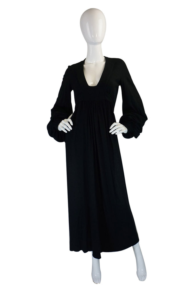 1960s Ossie Clark for Quorum Maxi Dress