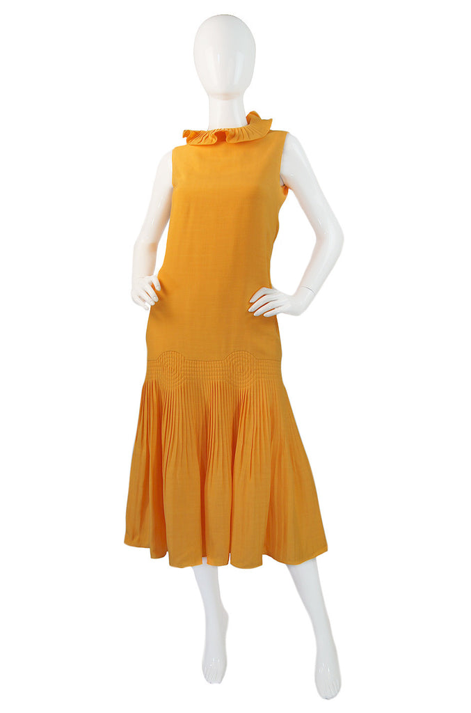 1960s Pierre Cardin Couture Pleat Dress