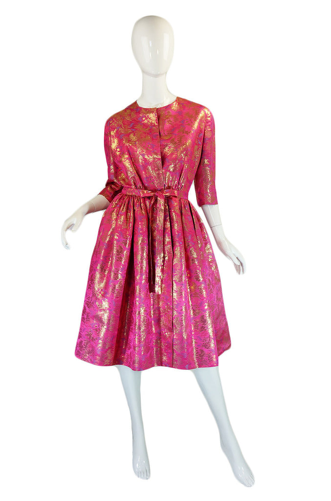 1960s Pink & Gold Brocade Larry Aldrich