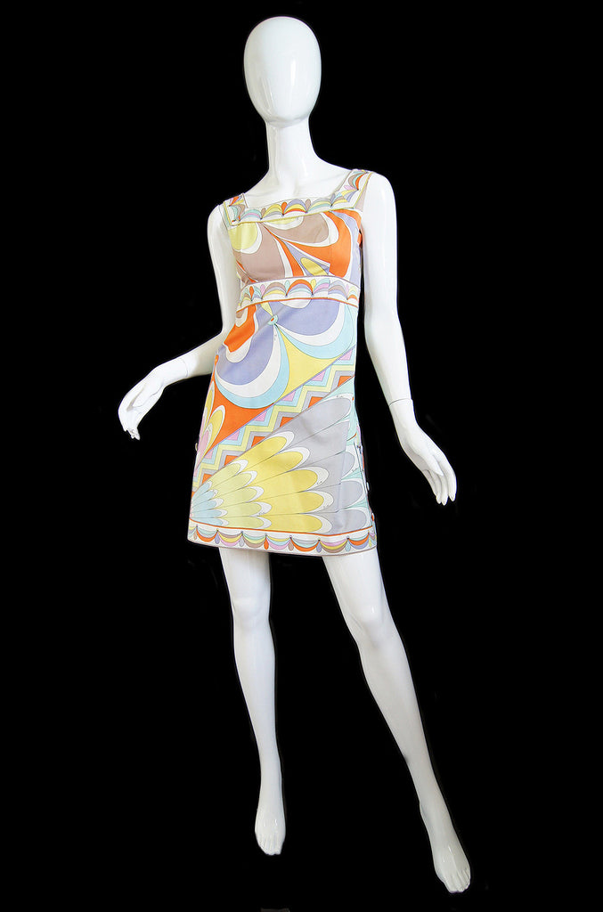 1960s Print Emilio Pucci Mini Dress