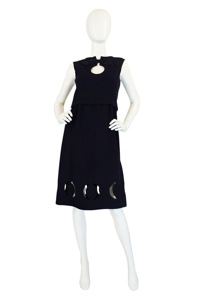 1960s Rare Pierre Cardin Cut Out Dress