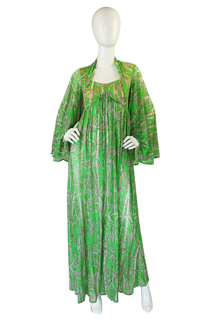 1970s Robert Morton Bamboo Maxi Dress