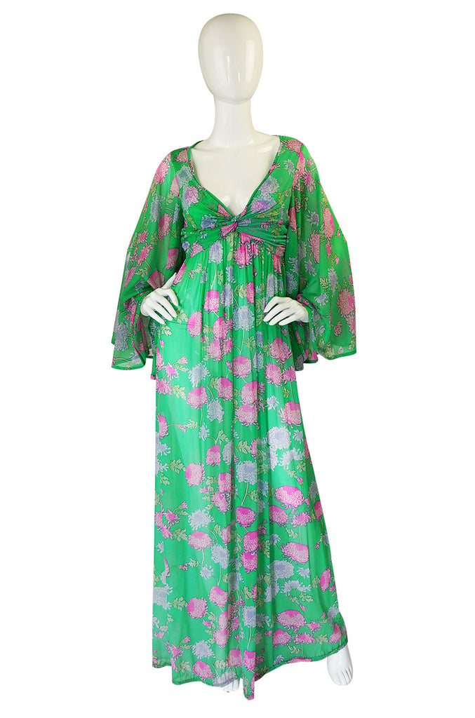 1960s Robert Morton Floral Maxi Dress