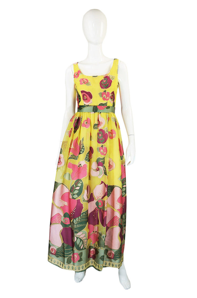 1960s Applique & Chiffon Mollie Parnis