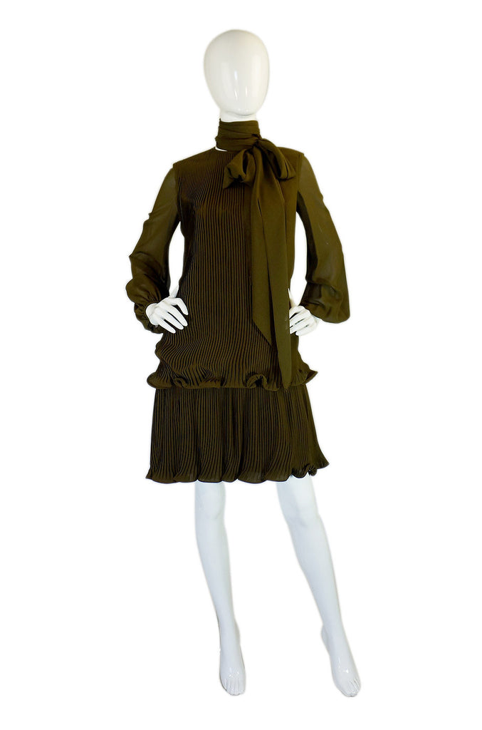 1960s Silk Chiffon Pierre Cardin Dress