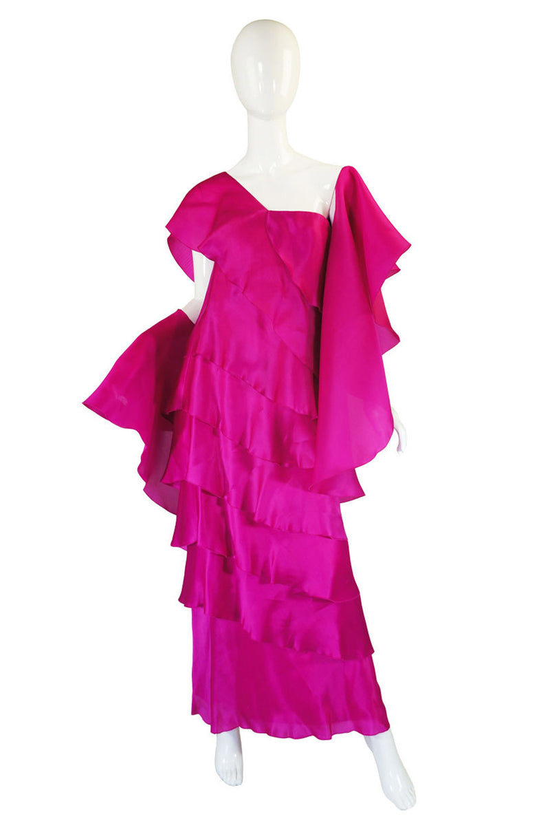 1990s Jackie Rogers Silk Organza Gown