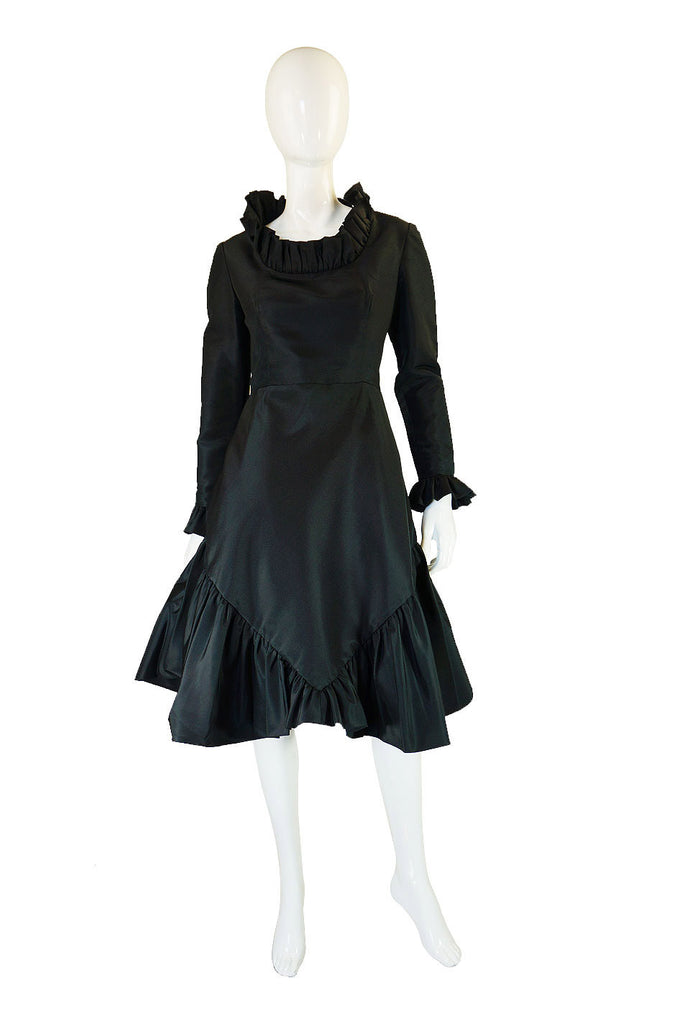 1950s Silk Taffeta Mollie Parnis Dress