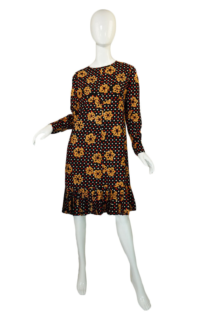 1960s Ungaro Parallele Quirky Dot Dress