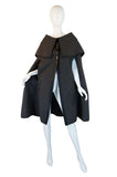 1960s Wool & Leather Cashin Cape