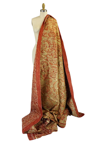 1961 Hand Painted Couture Fortuny Fabric
