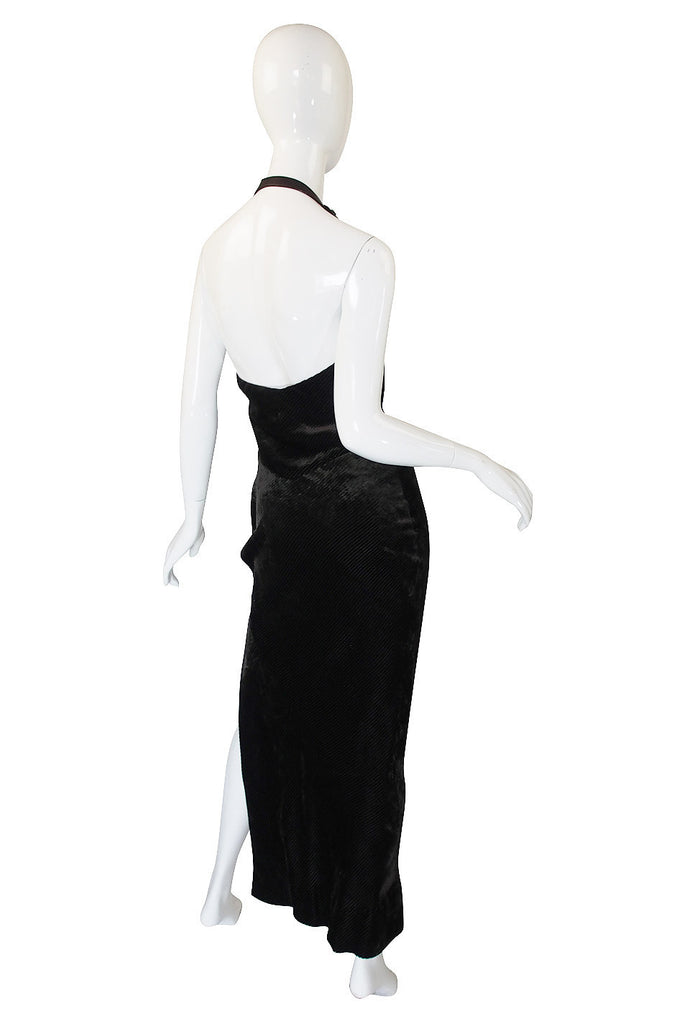 1990s Galliano for Christian Dior Velvet Gown