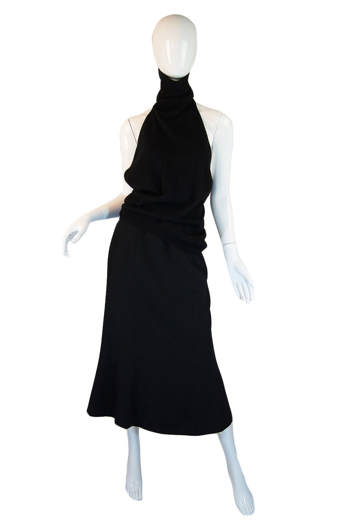 1970s Backless Bill Blass Cashmere Set