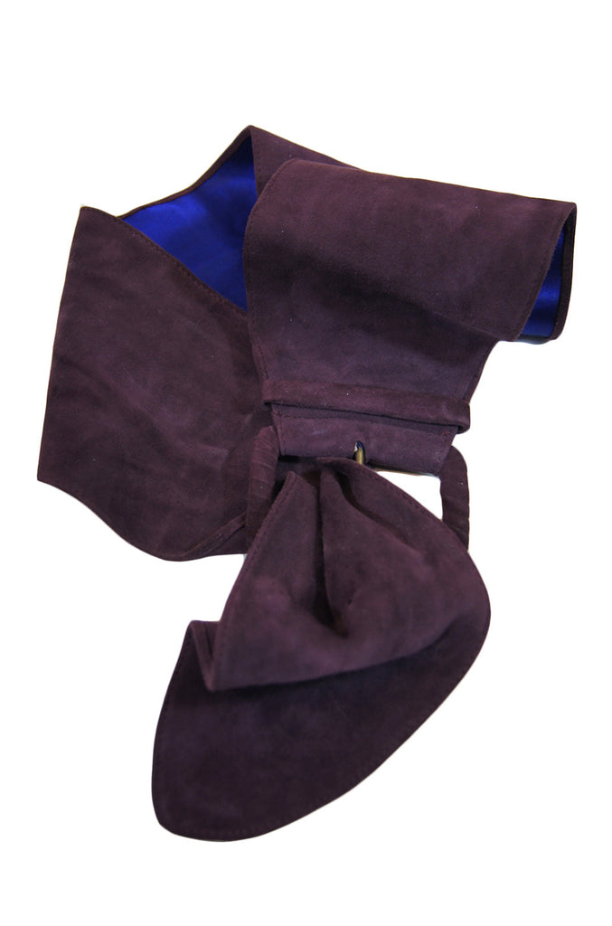 1970s Bottega Veneta Purple Suede Belt