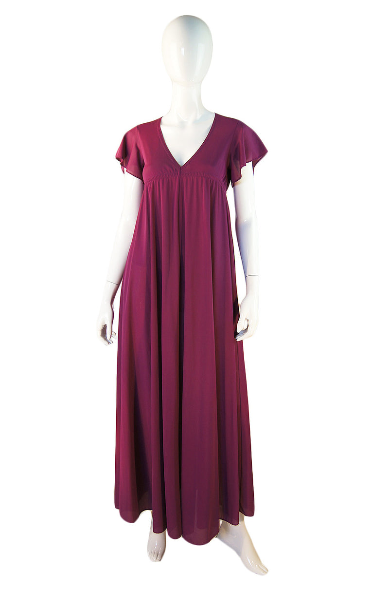 1970s Grape Nylon John Kloss Gown