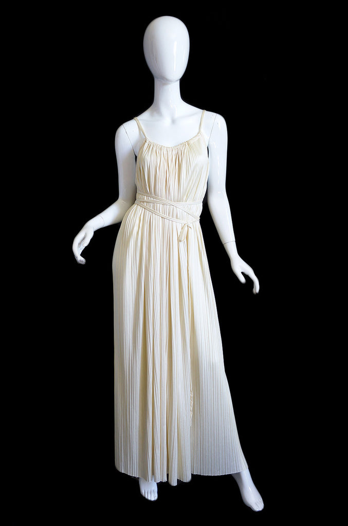 TWO 1970s Halston Grecian Wrap Gowns