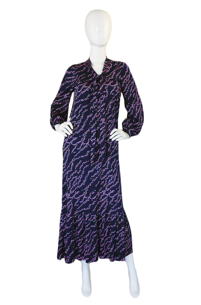 1970s Hanae Mori Jersey Dress