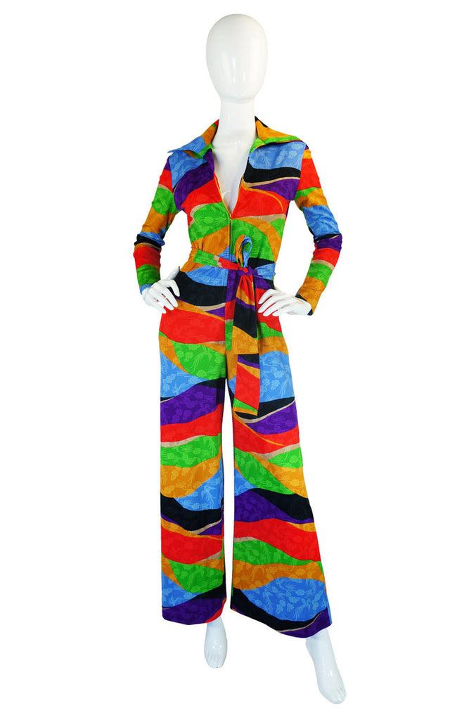 1970s Rare Lanvin Multi Colour Jumpsuit