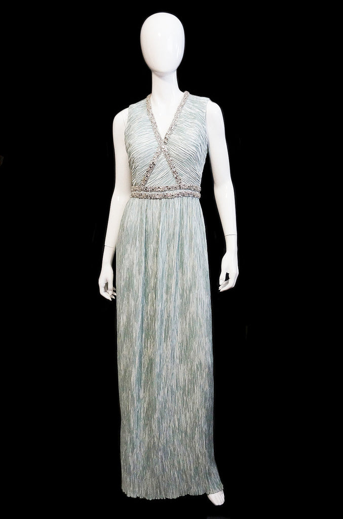 1970s Mary McFadden Couture Silk Gown