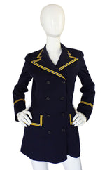 1970s Navy Blue & Yellow Navel Jacket
