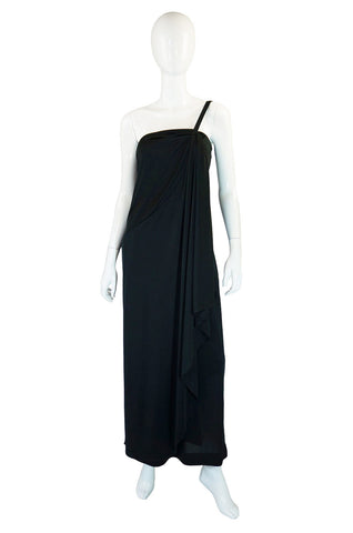 1970s One Shoulder Mac Tac Maxi Dress