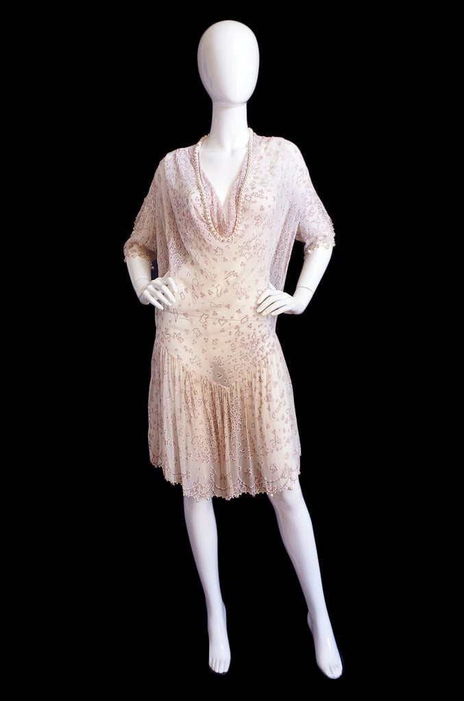 1980s Pearl Edged Zandra Rhodes Dress