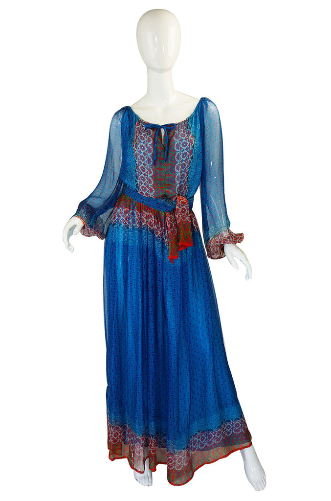 Rare 1970s Bellville Sassoon Silk Dress