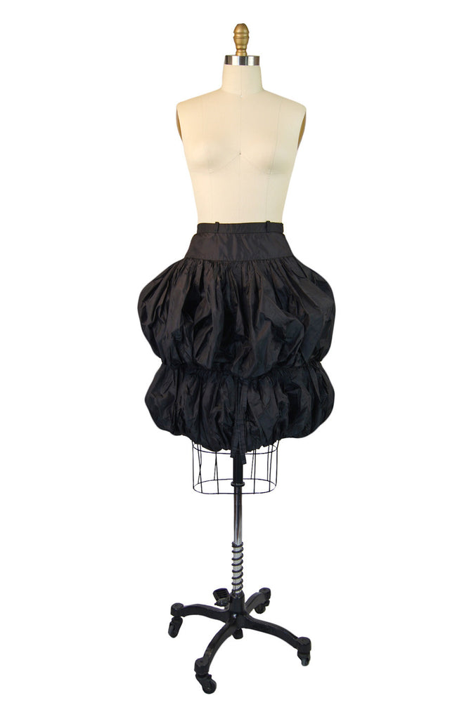 1970s Silk Taffeta Valentino Bubble Skirt
