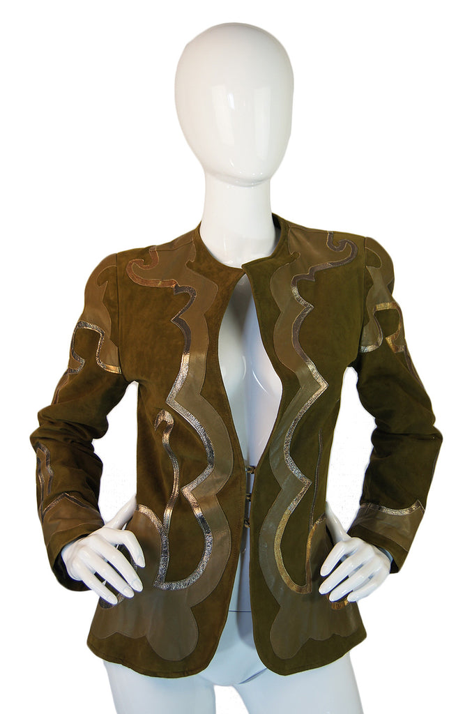 c1979 Suede Applique Giorgio Sant'Angelo Jacket