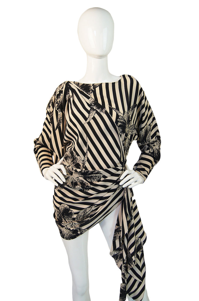 1970s Amazing Silk Ungaro Stripe Top
