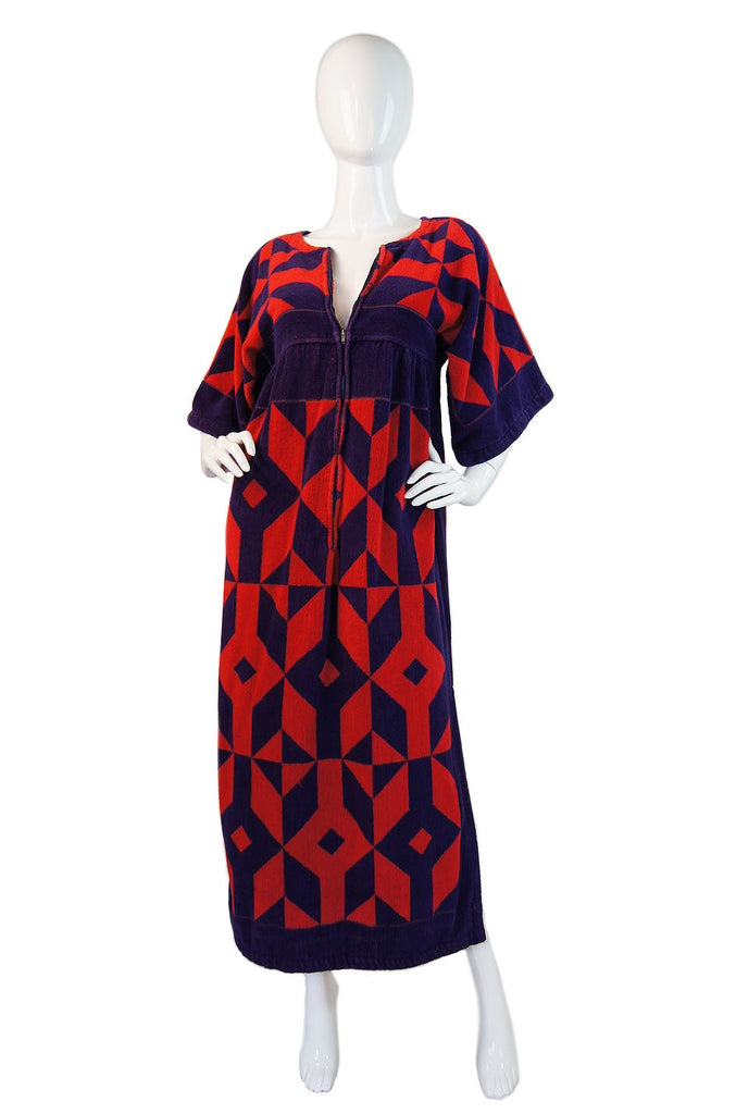 1970s Yves Saint Laurent Toweling Caftan