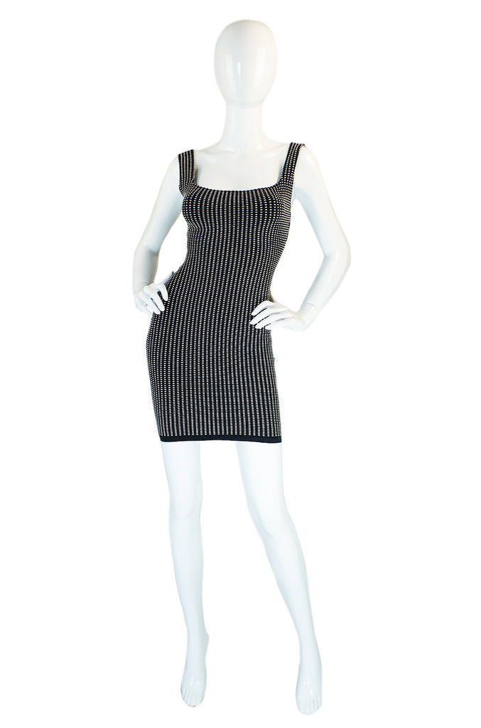 1980s Alaia Black & White Tank Dress