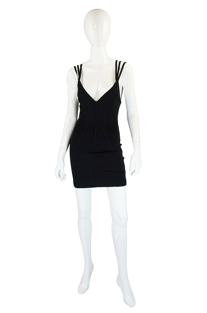 1980s Alaia Multi Strap Corset Dress
